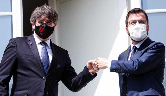 Aragonès y Carles Puigdemonte, encuentro en Waterloo